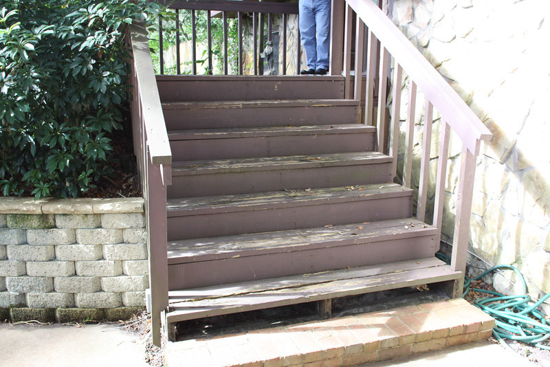 these steps to front door need work