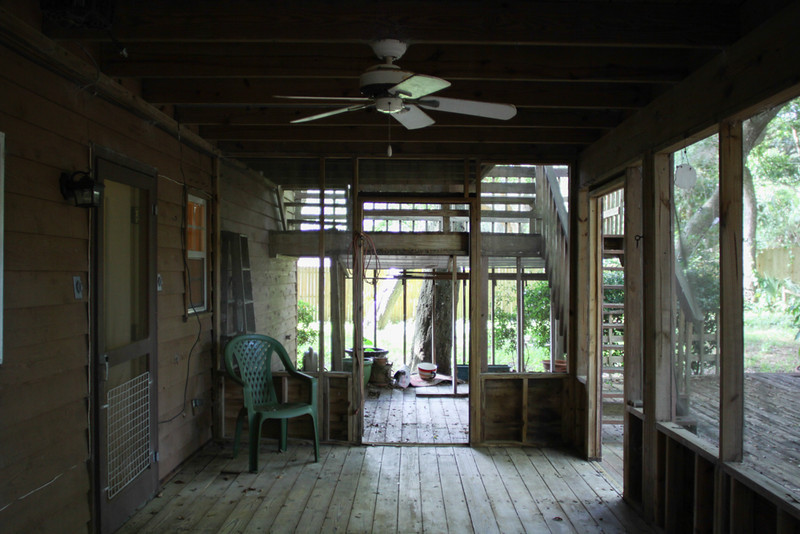 downstairs porch