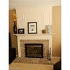 Gas fireplace with decorative woodwork