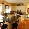 Beautiful updated kitchen with custom island and granite counter