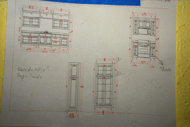 These are the drawings of the cabinets.  I think I'm going to like it!