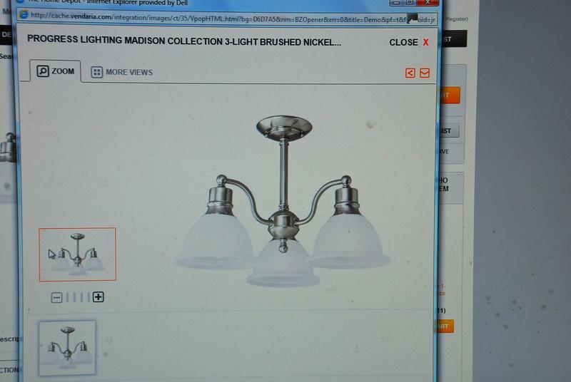 Kitchen remodel--items chosen