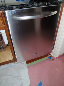 New stainless dishwasher installed!