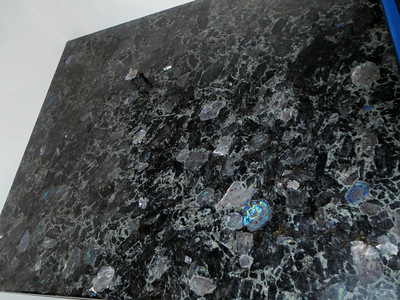 The blue/green mica in the granite continues to please me!
