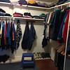 Half of master closet