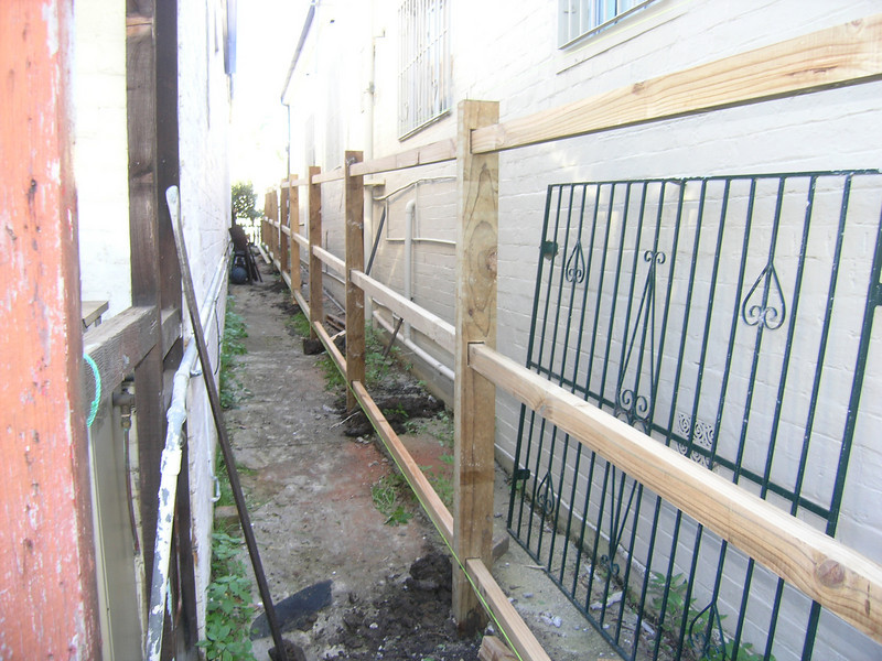 New fence goes up