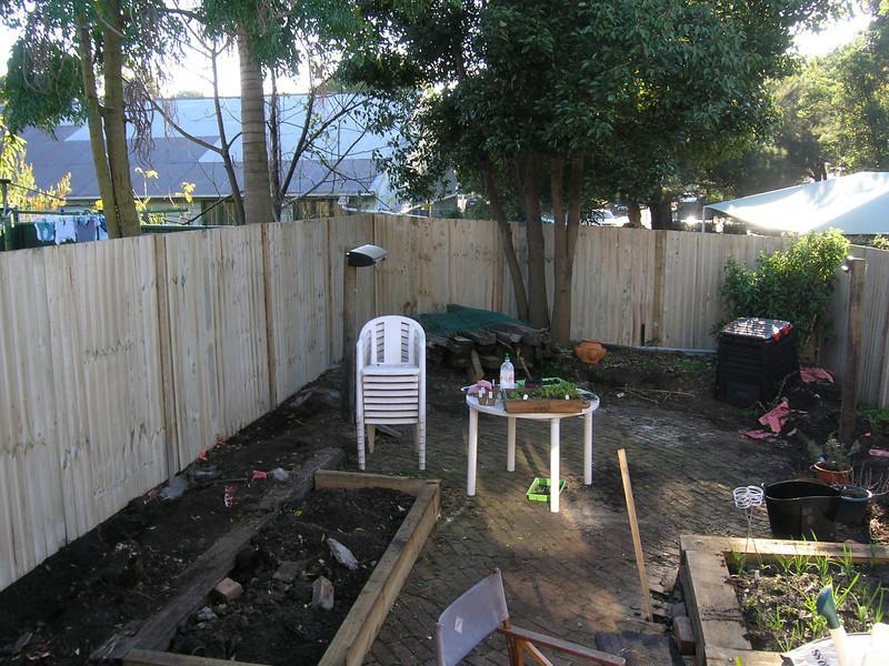 Shiny new fence