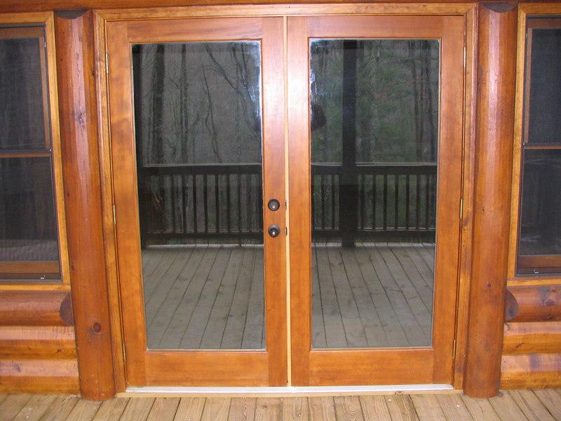 Basement doors.