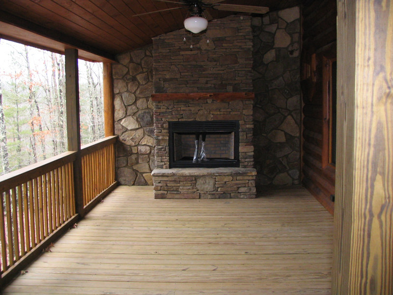 This is the outdoor gas fireplace.