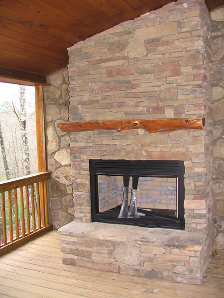 The gas fireplace on our deck.  We are having them screen this area in for us.