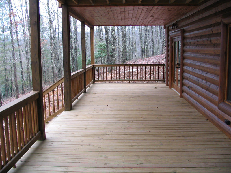 This is the bottom deck off of the basement.