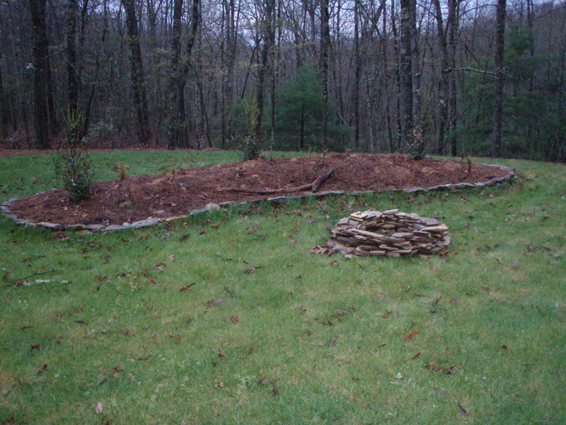 Doug is proud of the fire pit that he built.