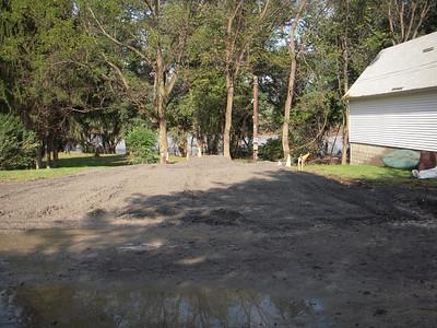 Post flood landscape work