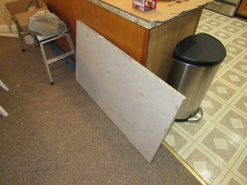This counter top rocked as initially installed. It only touched the cabinet at a few points. The caulk provided no resistance to lifting this off either.