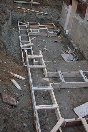 Setting forms for the foundation.