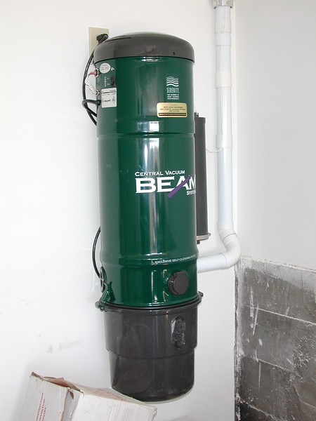 Our new central vacuum (in the garage).