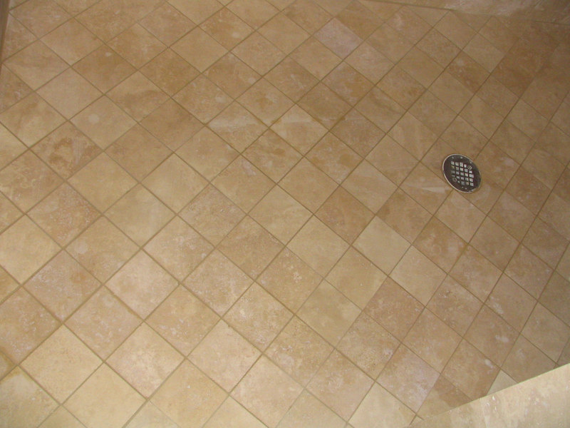 This is the shower floor with grout.