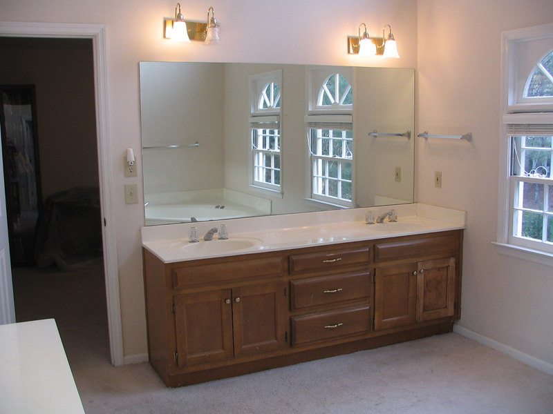 A before picture of our vanity.