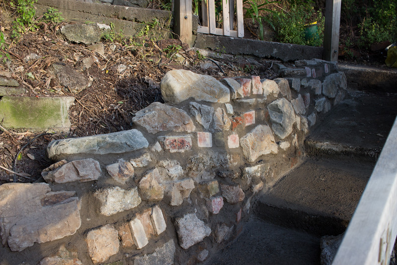 All laid, needs a good wash off to get rid of the excess mortar.
