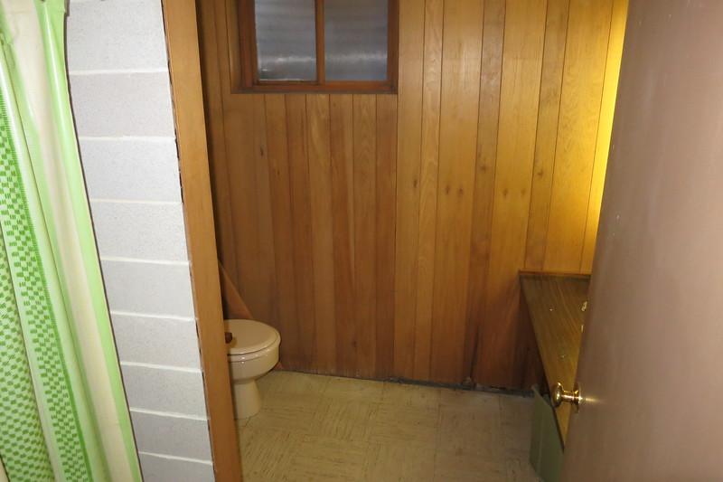 basement water closet at the back center