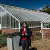 Kate and the Greenhouses, Kelmarsh Hall, Northamptonshire
