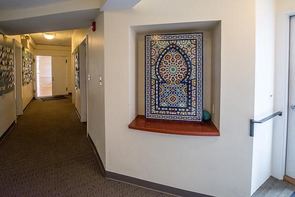 Basement hallway & bathrooms