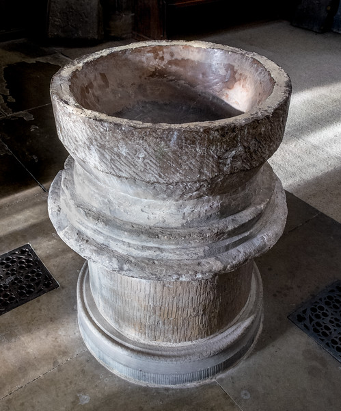 Baptism Font - Church of Saint Peter and Saint Paul - Pickering North Yorkshire UK 2017