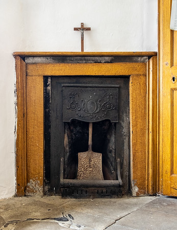 Fireplace - St Michael and All Angels Church Dunholme Richmondshire UK 2018