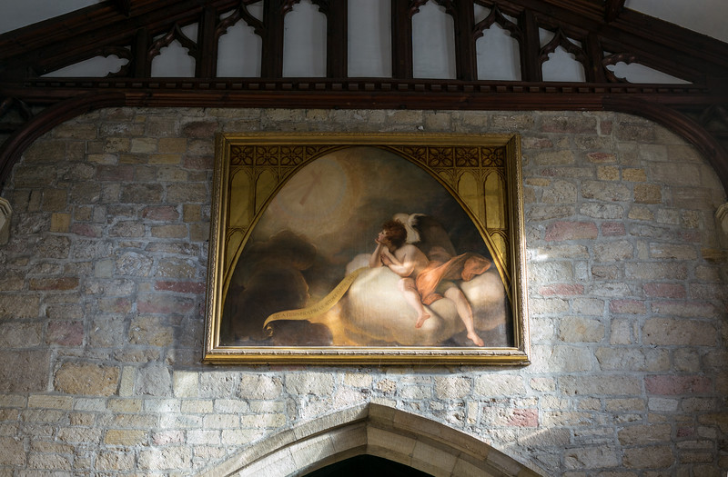 Angel in Contemplation by Joshua Reynolds - Masham Church of St Mary's 2018
