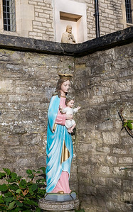 Mary and Brian in the Garden Joseph Watches On - Pickering North Yorkshire UK 2017