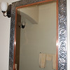 tooled tin mirror in Guest Bdrm.