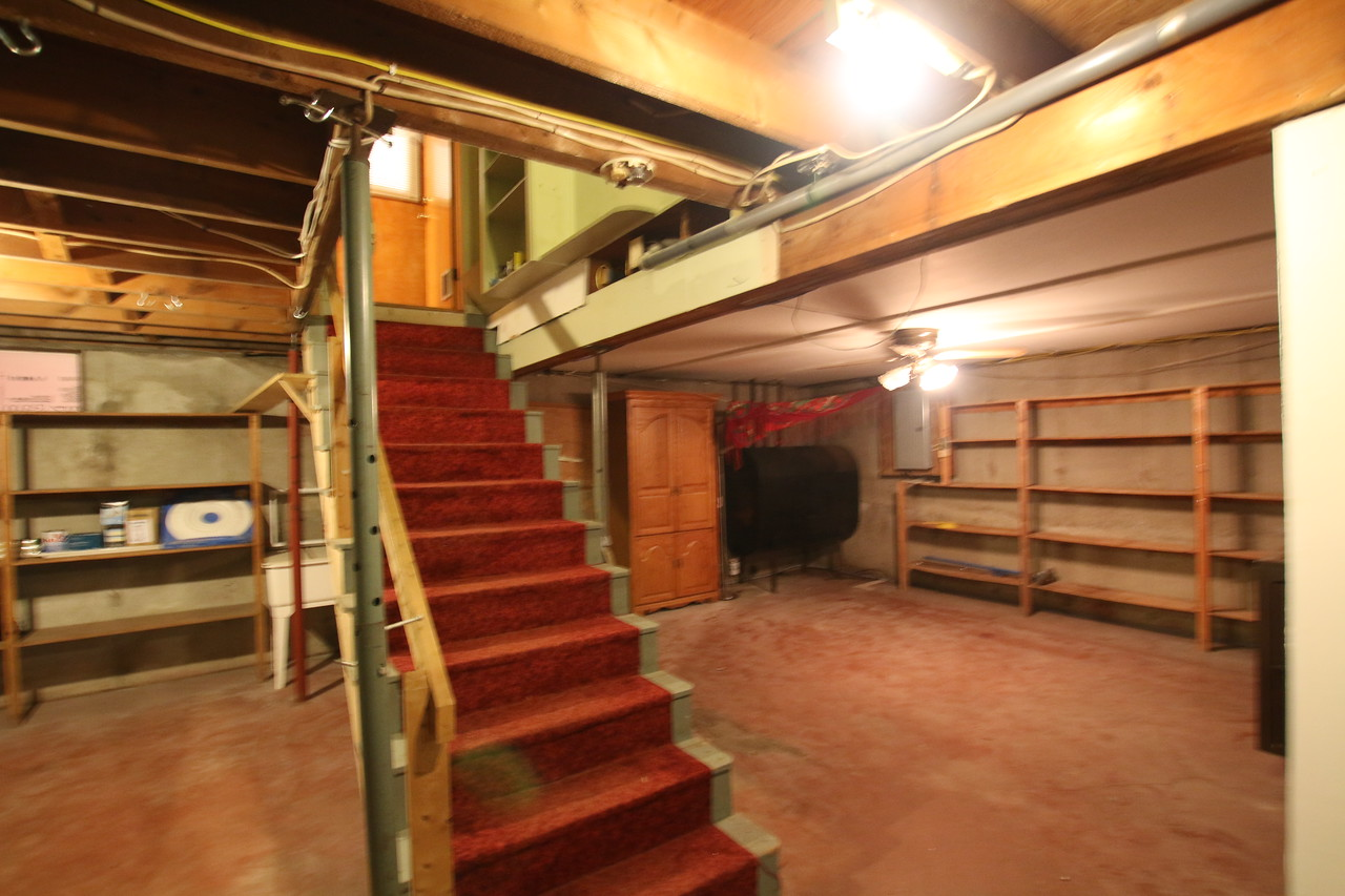 Basement and stairs before