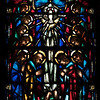 "Saint James' Church Stained Glass Window by Charles Connick  The south window was designed by Charles Connick and depicts scenes of Christ's life with the apostles. I love to deep, rich blue, purple, and red colors in the window. This panel reads ""He That Receiveth You Receiveth Me."" <br><br> Connick (1875-1945) produced most of the spectacular stained glass windows in the church. Connick was a prominent artist best known for his work in stained glass in the Gothic Revival style. He was born in Crawford Country, Pennsylvania and developed an interest in drawing at an early age. He left high school when his father became disabled to become an illustrator on the staff of the Pittsburgh Press. At the age of 19, he learned the art of stained glass as an apprentice in the shop of Rudy Brothers in Pittsburgh, where he stayed through 1899. He worked for a number of stained glass companies in Pittsburgh and New York. He went to England and France to study ancient and modern stained glass, including those in the Chartres Cathedral. His first major work was First Baptist Church in Pittsburgh in 1912.  <br><br> Connick settled in Boston opening a stained glass studio in Back Bay in 1913; the Charles J. Connick Associates Studio continued to operate after his death until 1986. He produced many notable windows in such churches as Saint Patrick's Cathedral, Saint John the Divine, the Princeton University Chapel, and Saint Vincent Ferrer. According to Wikipedia, the Charles J. Connick Associates Studio produced some 15,000 windows in more than 5,000 churches and public buildings. <br><br> According to <a href=""http://en.wikipedia.org/wiki/Charles_Connick"">Wikipedia, </a> ""Connick preferred to use clear ""antique"" glass, similar to that of the Middle Ages and praised this type of glass as ""colored radiance, with the lustre, intensity, and baffling vibrant quality of dancing lights."" He employed a technique of ""staggered"" solder-joints in his leading and bars, which English stained-glass historian Peter Cormack says gives the windows their ""syncopated or 'swinging' character."" His style incorporated a strong interest in symbolism as well. Connick expressed the opinion that stained glass's first job was to serve the architectural effect and he believed that his greatest contribution to glasswork was ""rescuing it from the abysmal depth of opalescent picture windows"" of the sort popularized by Louis Comfort Tiffany and John La Farge. Although firmly committed to a regenerated handicraft tradition, Connick welcomed innovation and experimentation in design and technique among his co-workers at his studio."" <br><br> According to the <a href=""http://www.cjconnick.org/"">Charles J. Connick Stained Glass Foundation website</a> ""Using pure, intense color and strong linear design, this guild of artists led the modern revitalization of medieval stained glass craftsmanship in the United States.  Their work reflected a strong interest in symbolism in design and color, and stressed the importance of the relationship between the window's design and its surrounding architecture.  As if with one mind and one pair of hands, the craftsmen in the Connick Studio worked collectively on their windows like the 12th- and 13th- century artisans whose craft inspired them."" <br><br> The Charles J. Connick Stained Glass Foundation was formed after the studio closed in 1986. According to the <a href=""http://www.cjconnick.org/"">foundation website</a> ""The mission of the Charles J. Connick Stained Glass Foundation, Ltd. is to promote the true understanding of the glorious medium of color and light and to preserve and perpetuate the Connick tradition of stained glass."" <br><br> Here is an interesting <a href=""http://video.mit.edu/watch/charles-j-connick-and-mit-10153/"">video from the Massachusetts Institute of Technology</a> on Connick. In December 2008, the foundation donated materials to MIT's Rotch Library of Architecture and Planning to form the Charles J. Connick Stained Glass Foundation Collection."