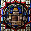 """Saint Bartholomew's Church from 1930 Stained Glass Window by J. Gordon Guthrie <br><br> John Gordon Guthrie (1874–1961), a Scottish immigrant, known professionally as """"J. Gordon Guthrie"""" designed this window. Guthrie had first designed windows for Tiffany Studios. He left Tiffany in 1906 and worked for Duffner & Kimberly until 1914. The New York City company produced leaded glass and bronze lamps at approximately the same time as Tiffany. He then worked with Henry Wynd Young (1874–1923) until Young's death in 1923, when Guthrie took over the management of Young's studio. Guthrie began his own firm in 1925, and was active as a stained glass designer until his death on June 23, 1961, according to <a href=""""http://en.wikipedia.org/wiki/Duffner_and_Kimberly """">Wikipedia.</a>"""