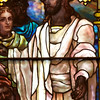 "The Second Reformed Church Christ's Farewell Interview with His Disciples Window <br><br> This window is John Gordon Guthrie (1874–1961), a Scottish immigrant, known professionally as ""J. Gordon Guthrie"". Guthrie had first designed windows for Tiffany Studios. He left Tiffany in 1906 and worked for Duffner & Kimberly until 1914. The New York City company produced leaded glass and bronze lamps at approximately the same time as Louis Comfort Tiffany. He then worked with Henry Wynd Young (1874–1923) until Young's death in 1923, when Guthrie took over the management of Young's studio. Guthrie began his own firm in 1925, and was active as a stained glass designer until his death on June 23, 1961, according to <a href=""http://en.wikipedia.org/wiki/Duffner_and_Kimberly"">Wikipedia.</a> <br><br> From <a href=""http://www.secondreformed.org/stainedglass"">the church website:</a> <br><br> The window ""…is easily distinguished from the Tiffany windows by the gold borders. But, there are many similarities, as well (perhaps due to Guthrie's experiences at the Tiffany Studios). Notice the drapery glass, the limited use of enamel painting and the plated (layered) areas. """