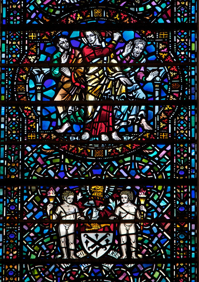 Temple Church Stained Glass Window<br /> <br /> The window is from the 20th century.