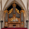 "Temple Church Organ <br><br> Harrison &amp; Harrison Ltd built and installed the great organ in 1954. The case, behind which is the four manual organ complete with three 32-ft stops, is modeled on drawings of the Temple's Father Smith organ of 1688. <br><br> ""From 1683 (the year Father Smith and Renatus Harris were commissioned to compete for the contract to install an organ in the Temple Church), the instruments have been well documented. However, the earliest mention of an organ in the Temple Church appears in an inventory made by the Sheriffs of London in 1307 which mentions that there were In the Great Church 'Two pairs of organs and in the quire a book for the organs and two cushions for the chanter's chairs'""  according to <a href=""http://www.templechurch.com/music/the-organ/"">the church website. </a> The organ was restored from 2011-2013. <a href=""http://www.templechurch.com/organ-appeal/"">Queen Elizabeth</a> attended the dedication ceremony."