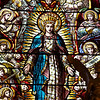 "Saint Paul the Apostle Church, High Altar Stained Glass Windows by Mayer & Co. of Munich <br><br> These beautiful stained glass windows above the altar were made by Mayer & Co. of Munich, now known as Franz Meyer of Munich, Inc. The firm is famous for stained glass design and manufacturing. Founded in 1847, the firm was popular in the late 19th and early 20th centuries for providing stained glass to large Roman Catholic churches constructed during that period. <a href=""http://en.wikipedia.org/wiki/Franz_Mayer_%26_Co."">Wikipedia</a> provides a long list of churches that feature Mayer stained glass windows throughout the world.  <br><br> The company still exists and the New York Mass Transit Authority is one client. Franz Meyer mosaics can be found at the South Ferry, 86th Street, 42nd Street and 8th Ave., Penn Station, and Bryant Park subway stations just to name a few. For more detail on their work, see the <a href=""http://www.mayer-of-munich.com/""> Franz Meyer company website.</a>"