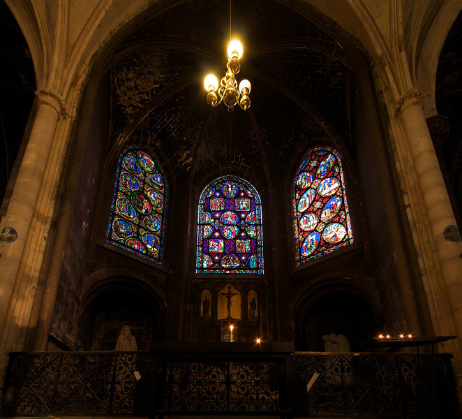 "Saint-Germain-l'Auxerrois  <br><br> <a href=""http://www.saintgermainauxerrois.cef.fr/"">From the church website</a>, this is Scenes of Passion copied from the windows at Sainte-Chapelle from 1838."