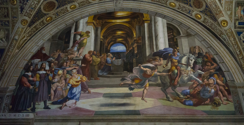The Explusion of Helodorus from the Temple, Raphael, Vatican Museum