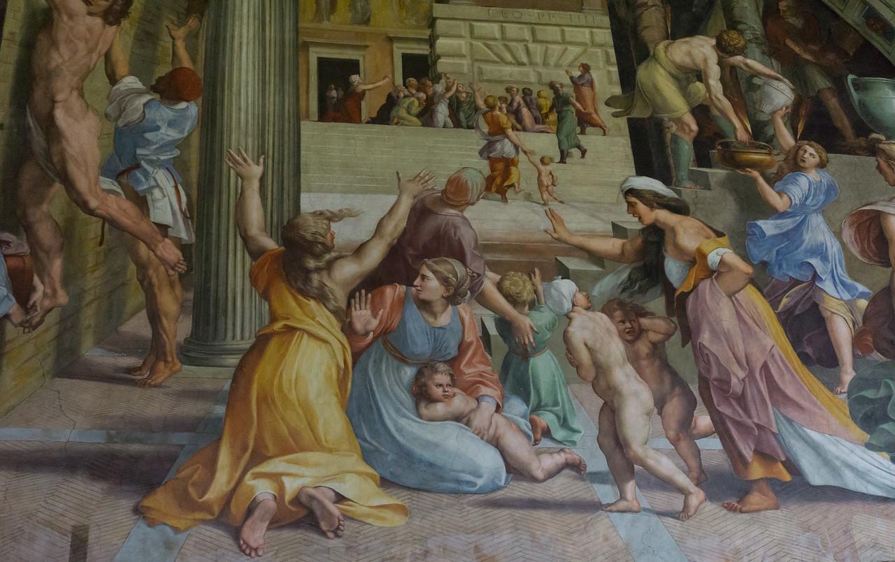 Fire in the Borgo, Raphael, Vatican Museum