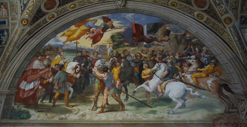 The Meeting of Leo the Great and Attila, Raphael, Vatican Museum