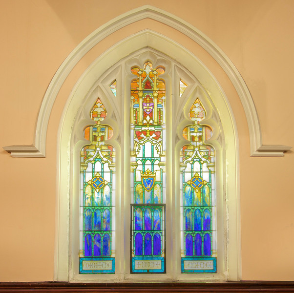 Advent Lutheran<br /> <br /> Window by Louis Comfort Tiffany and manufactured by his Tiffany Studios.