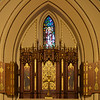 The Chapel of the Resurrection<br /> <br /> The Chapel was built in 1930. The reredos is a polychromed wood triptych (a work of art-usually a panel painting-that is divided into three sections, or three carved panels which are hinged together and can be folded shut or displayed open) in an early English style. Above the triptyck is a window portraying the Resurrection.