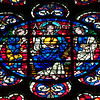 Aisle Clerestory Rose Window: Christ Between Two Angels