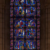 Riverside Church Scholars Stained Glass Window<br /> <br /> Stained glass windows at Riverside Church are in the tradition of Chartres Cathedral in France and made in the U.S. and France. Many subjects of the aisle windows relate directly to modern history, such as the Declaration of Independence and the Emancipation Proclamation, treated in the Gothic spirit. Other windows celebrate the accomplishments of Aristotle, Socrates, John Calvin, and Roger Williams. I haven't been able to find the names of the artists that created the windows.<br /> <br /> There are ten aisle windows with the west aisle windows representing the following themes: Agriculture, Reformers, Bible, State, and Builders with the east windows representing International, Humanity, Scholars, Music, and Children. The aisle clerestory windows (upper windows) symbolize the communication of God with humanity through Jesus Christ, according to the church publication I referenced in the first photo.