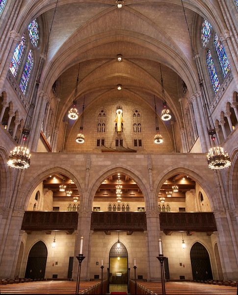 The Riverside Church<br /> <br /> This photo faces the entrance. It is two photos stitched together, top and bottom exposures.