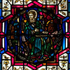 "Luke Stained Glass Window by J. Gordon Guthrie <br><br> John Gordon Guthrie (1874–1961), a Scottish immigrant, known professionally as ""J. Gordon Guthrie"" designed this window. Guthrie had first designed windows for Tiffany Studios. He left Tiffany in 1906 and worked for Duffner & Kimberly until 1914. The New York City company produced leaded glass and bronze lamps at approximately the same time as Tiffany. He then worked with Henry Wynd Young (1874–1923) until Young's death in 1923, when Guthrie took over the management of Young's studio. Guthrie began his own firm in 1925, and was active as a stained glass designer until his death on June 23, 1961, according to <a href=""http://en.wikipedia.org/wiki/Duffner_and_Kimberly "">Wikipedia.</a>"