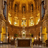 "The Church of Saint Francis Xavier Nave, Altar, and Apse <br><br> From the <a href=""http://www.sfxavier.org/wordpress/wp-content/uploads/downloads/2013/02/Entire-Tour-Guide-Reduced.pdf"">Church of St. Francis Xavier Tour Guide:</a>  <br><br> ""The marble floor and steps include bardiglio (gray), colacotta (white) and giallo di Siena (yello) and match the original marble. Original steps were incorporated with new marble in an effort to re-purpose. Additional 3,000 square feet of marble needed was mined from the original quarry in Carrera, Italy. """