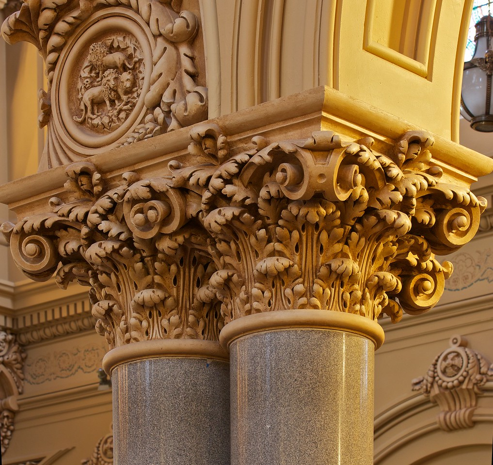 The Church of Saint Francis Xavier Wood Carved Pillars